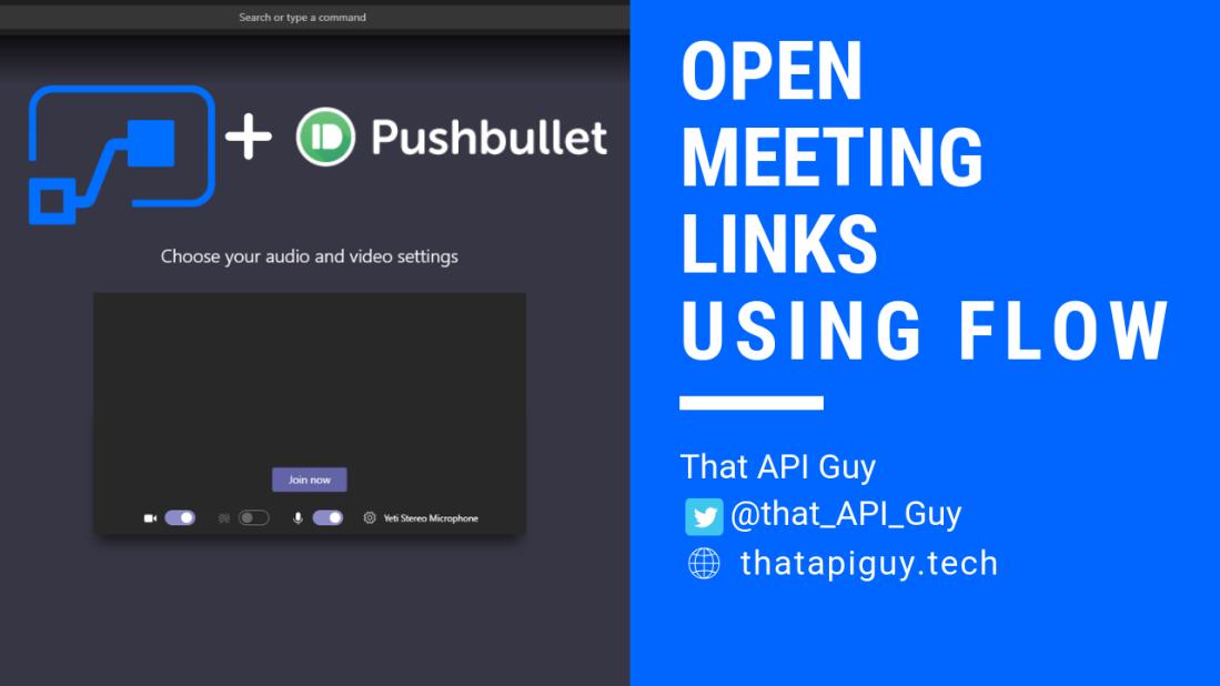 Outlook Meetings – That API Guy